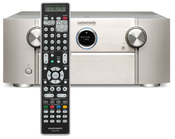 Marantz SR-7011 9 2-channel home theater receiver with Wi-Fi, Dolby Atmos,  DTS:X, and HEOS (Silver)