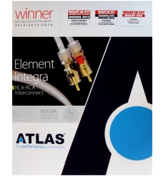 Atlas Element Integra Audio Interconnect, RCA-RCA, 0.75m