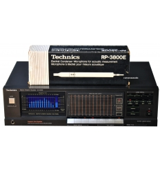 Technics SH-8066 Graphic Equaliser / Spectrum Analyser & RP-3800E Electret Condenser Microphone